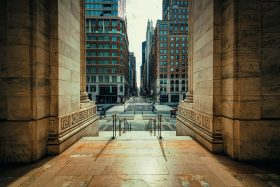 An empty New York street during the Coronavirus crisis.