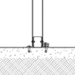 Diagram of a collapsible bollard with fold down mountings