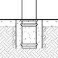 flexible bollard embedded installation diagram