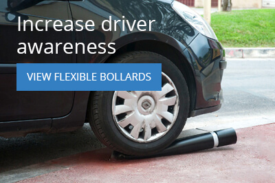 Increase road safety with flexible bollards