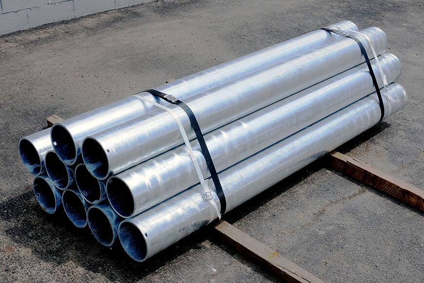 galvanized steel pipe security bollards