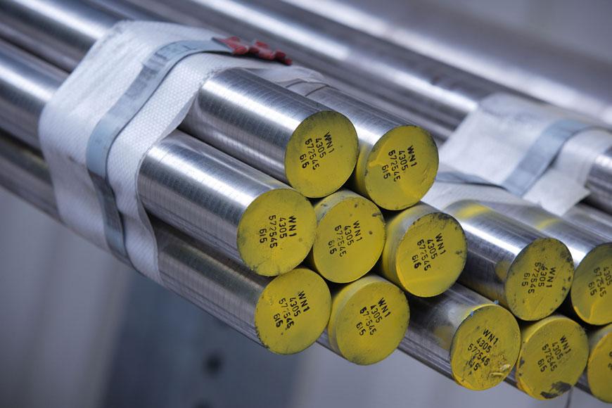 A bundle of high-grade steel parts