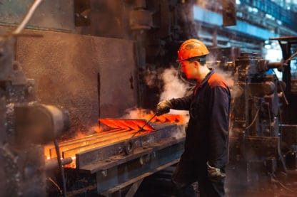 Steel is made in foundries and steel mills