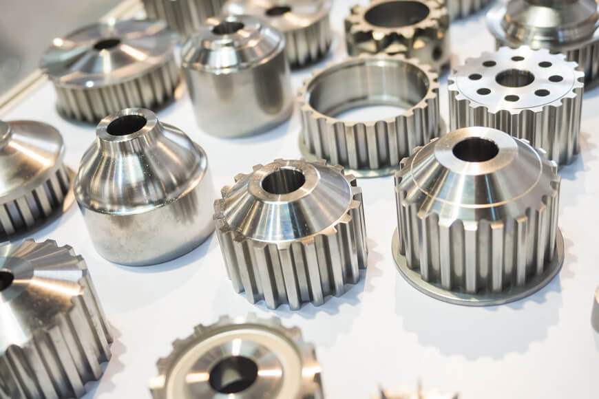 automotive parts made by casting and high-precision machining aluminum