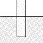 diagram of pipe bollard in new concrete installation