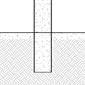 diagram of pipe bollard in existing concrete installation
