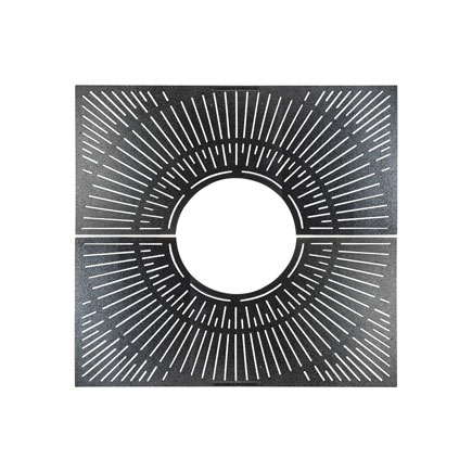 An art-deco inspired tree grate