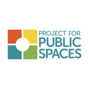 Project for Public Spaces four color logo that looks like a city block with an inner courtyard