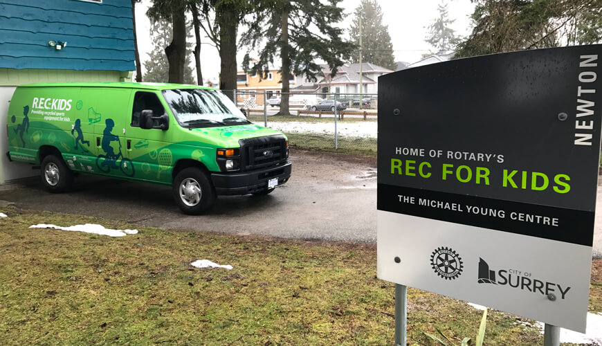 Rec for Kids' van