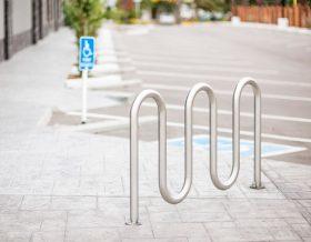 stainless steel wave bike rack