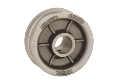 Double flanged industrial wheel