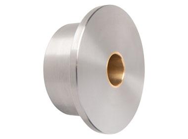 Single flanged industrial wheel