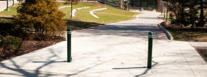 landscaping bollards on walking path