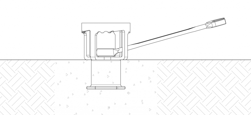 Diagram showing the receiver in the designated location