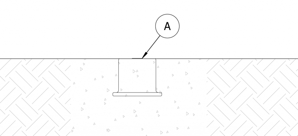 Diagram showing concrete being poured into the site