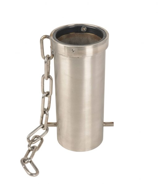 removable stainless steel bollard mounting with chain