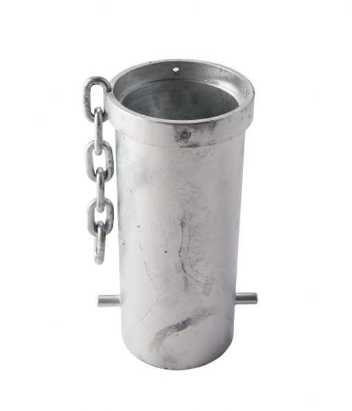 removable bollard mounting with chain