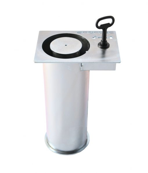 removable mounting for flexible bollards