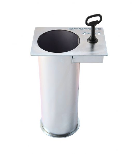 removable receiver for flexible bollard