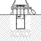 A computer-animated cross section demonstrates how Reliance Foundry's premium removable mounting works.