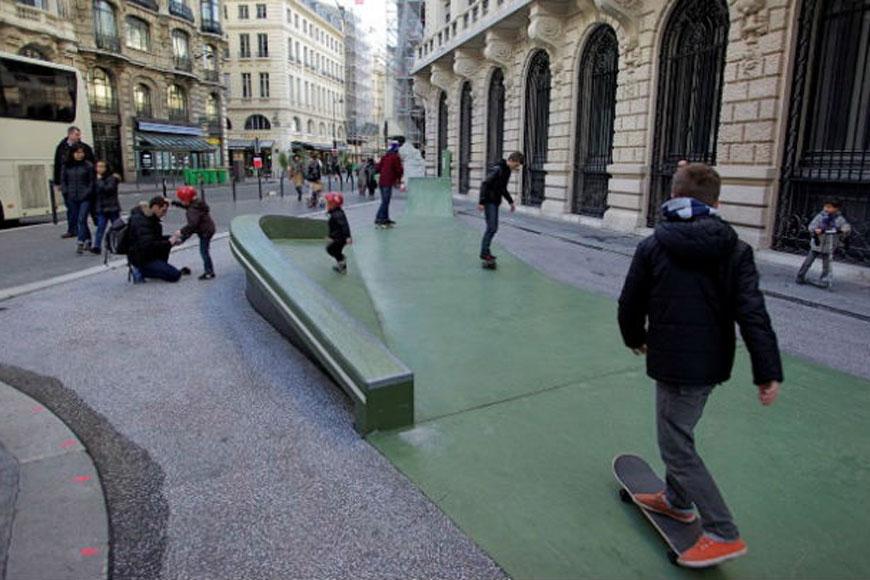 Skaters enjoy an alley-turned-skatepark called Rue Leon Cladel Alley Skatepark in Paris