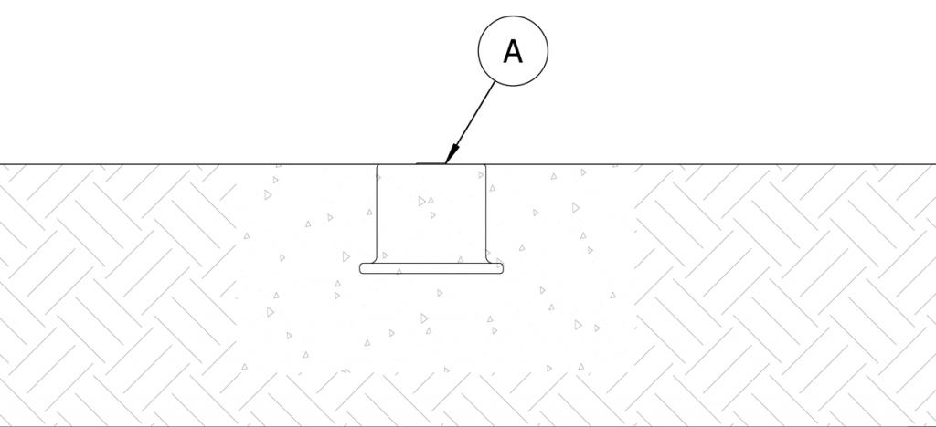 Diagram showing concrete poured into the site