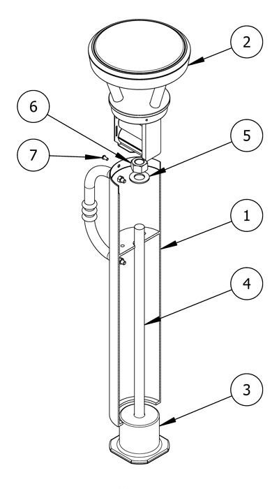 Diagram showing parts list