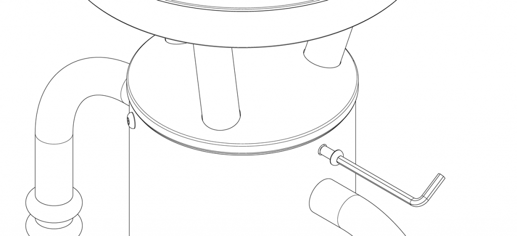 Diagram showing solar cap placed on top of bike bollard