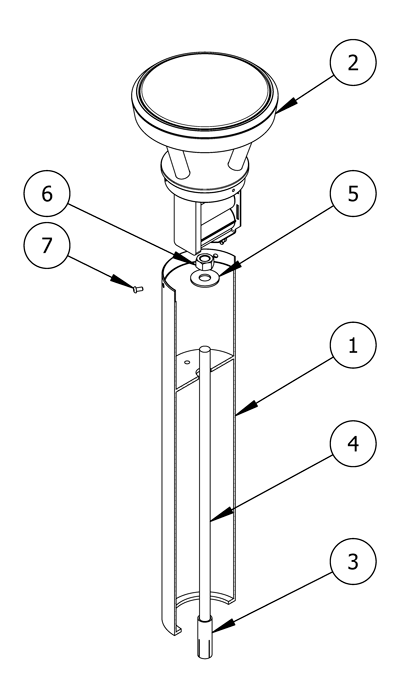 Diagram showing the parts list