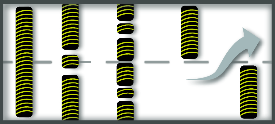 A graphic of various bolt down speed hump configurations