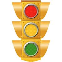 Illustration of a traffic light
