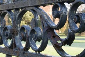 Antique iron fencing made from wrought iron